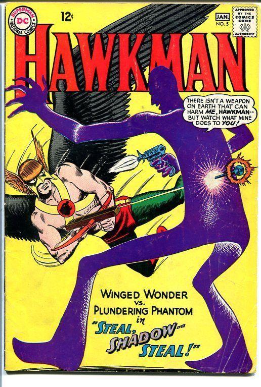 HAWKMAN #5 1964-2nd SHADOW THIEF-SILVER AGE DC COMICS VG