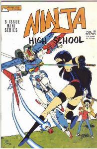 Ninja High School #3 (Aug-87) VF/NM+ High-Grade Jeremy Feeple