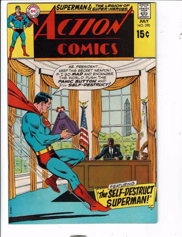Action Comics # 390 VF/NM DC Comic Book Feat. Superman Superboy Supergirl RG1