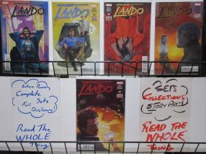 STAR WARS LANDO (Marvel, 2015) #1-5 COMPLETE! VF-NM Charles Soule,Alex Maleev