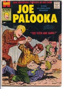Joe Palooka #101 1957-Harvey-Teen-age Gang-unique story line-VG
