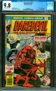 Daredevil #131 CGC Graded 9.8  Origin and 1st appearance of the new Bullseye....