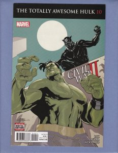Totally Awesome Hulk #10 VF Black Panther Marvel 2016