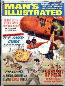 Man's Illustrated Magazine September 1962-WILD HITLER ART-GEORGE GROSS VG/FN