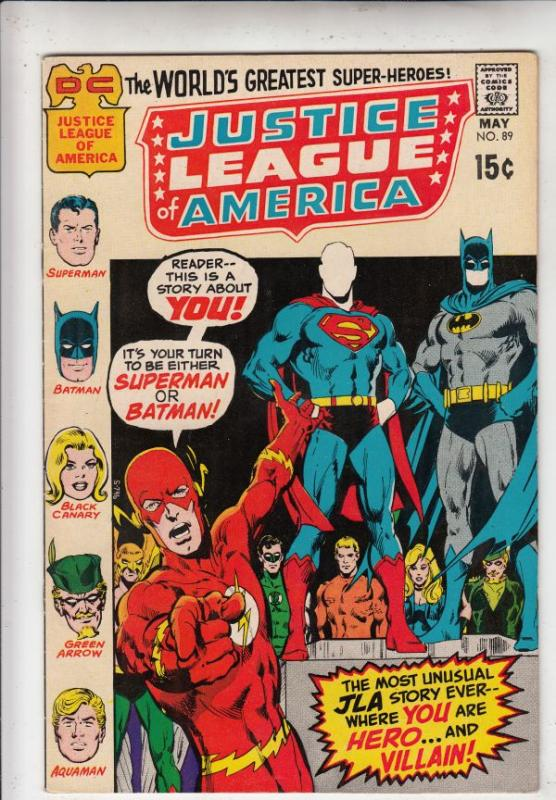 Justice League of America #89 (May-71) VF/NM High-Grade Justice League of Ame...