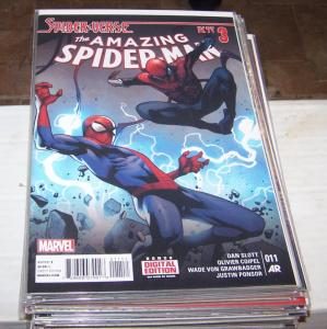 Amazing Spider-Man # 11 (Feb 2015 ) marvel spider-verse pt 3 silk  superior gwen