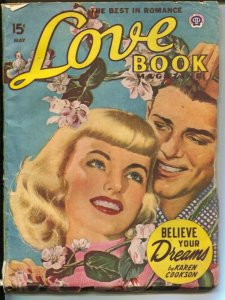 Love Book 5/1949-pin-up girl cover-pulp fiction by female authors-Peggy Gaddis-G