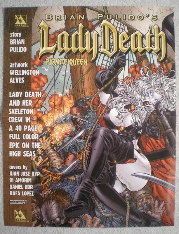 LADY DEATH : PIRATE QUEEN Promo poster, 10x13, Unused, more Promos in store
