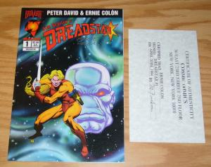 Jim Starlin's Dreadstar #1 VF signed by ernie colon with COA from cosmic comics