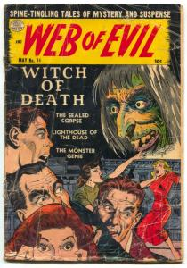 WEB OF EVIL #14-1954 Old Witch cover-pre code horror FAIR