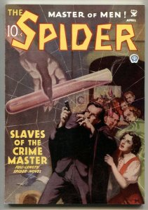 The Spider 4/1935- Slaves Of The Crime Master pulp reprint 2006