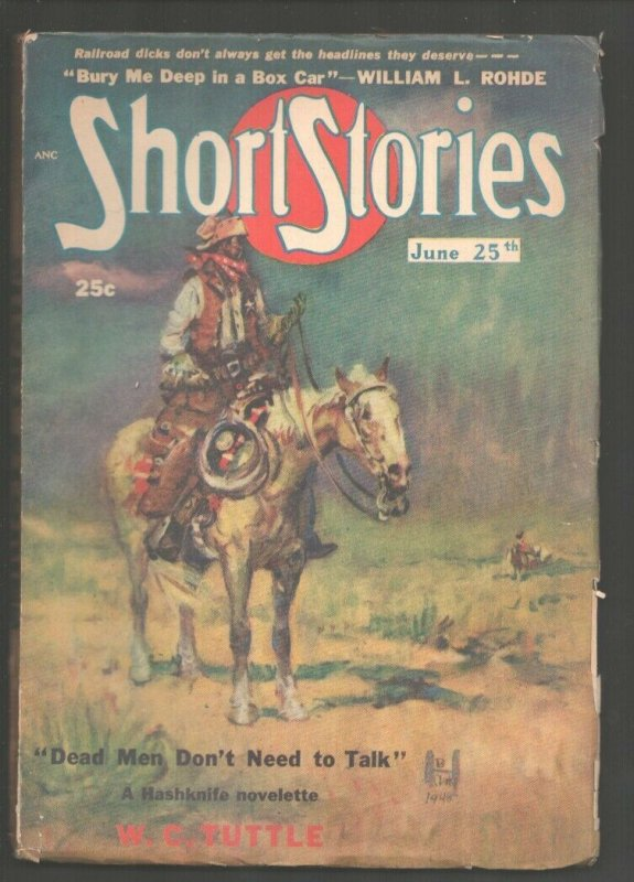Short Stories 6/25/1948-Pulp stories-Frank Gruber-W.C. Tuttle-VG/FN