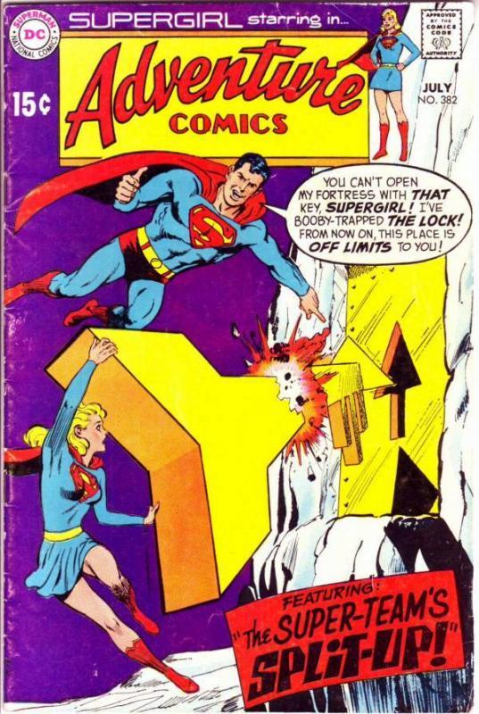 Adventure Comics #382 (Jul-69) FN Mid-Grade Supergirl