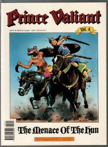 Prince Valiant #4 1990-Fantagraphics-color reprint-Hal Foster-Hun Menace-VF