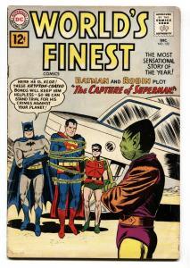 WORLD'S FINEST #122 comic book 1961- SUPERMAN- BATMAN-GREEN ARROW VG