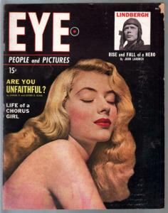 Eye #4 12/1949-Atlas-Charles Lindbergh-exploitation-cheesecake-swimsuits-VG-