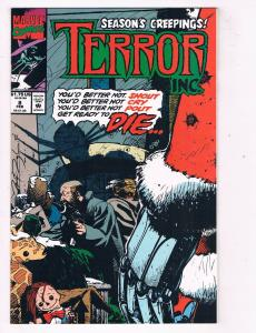 Terror Inc (1992 1st Series) #8 Marvel Comic Book Christmas Issue HH4 AD38