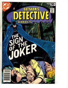 Detective Comics # 476 NM DC Comic Book Batman Joker Robin Catwoman Catwoman TD1