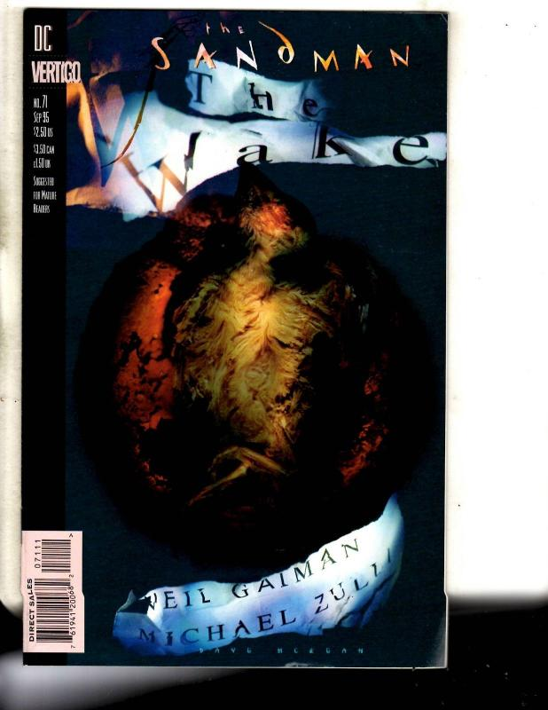 Lot Of 7 Sandman DC Vertigo Comic Books # 68 69 70 71 72 74 75 Gaiman RM3
