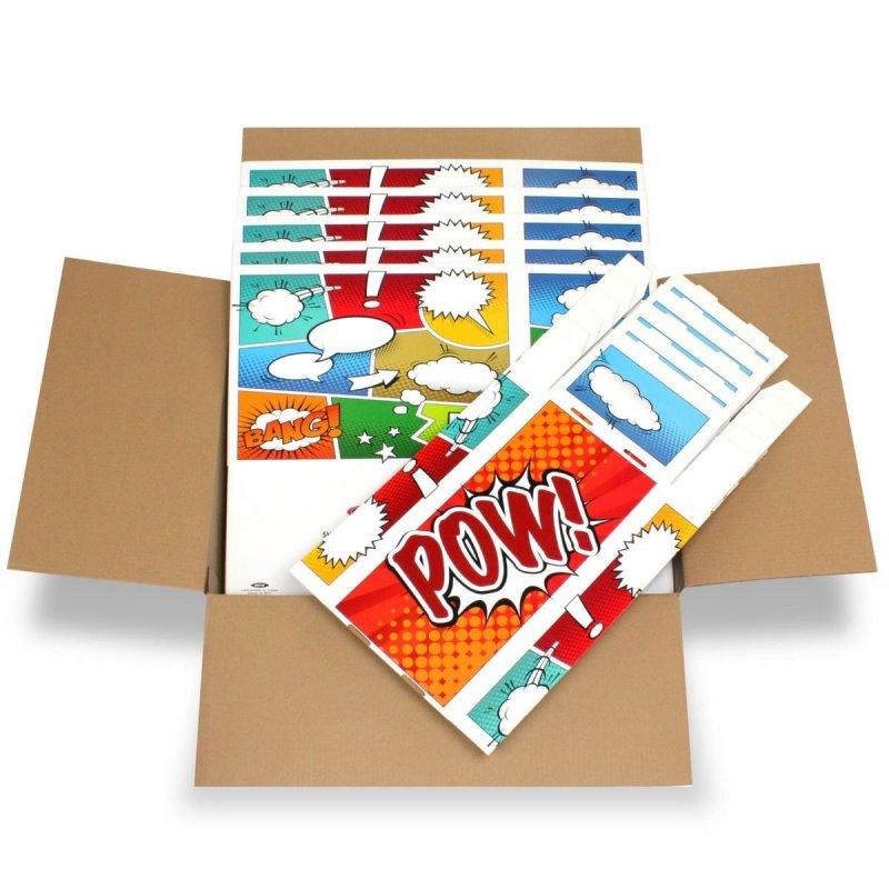 Short Comic Box - Art - Pow - 5 Boxes