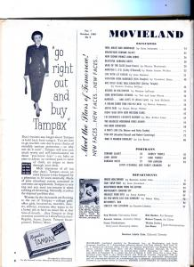Movieland-Shirley Temple-Kirk Douglas-Betty Grable-Liz Taylor-Oct-1949