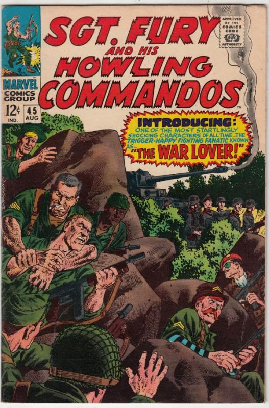 Sgt. Fury and His Howling Commandos #45 (Aug-67) FN/VF+ Mid-High-Grade Sgt. F...