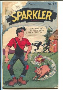 Sparkler #57 1946-Li'l Abner-Tarzan-Sparkman-Nancy-fireworks-FR