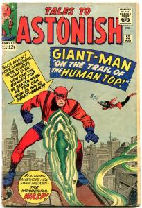 TALES TO ASTONISH #55-1964-GIANT-MAN-MARVEL SILVER-AGE--reading copy