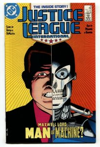 Justice League International #12-Origin of Maxwell Lord-1st app ICE
