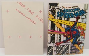 1986 MARVEL UNIVERSE STICKER #30 AMAZING SPIDER-MAN NM
