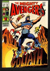 Avengers #63 VF 8.0 Marvel Comics Thor Captain America