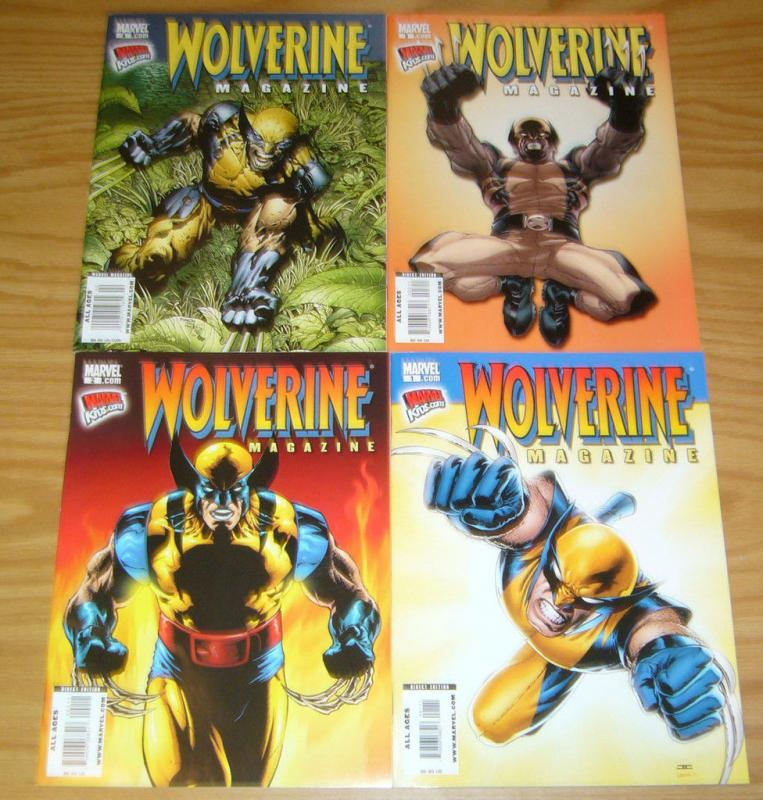 Wolverine Magazine #1-4 VF/NM complete series ALL AGES marvel kids set 2 3 lot