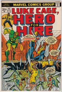 Luke Cage Hero for Hire #12 (Aug-73) NM Super-High-Grade Luke Cage