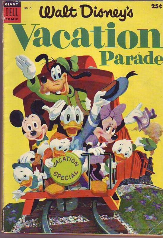 Dell Giant Walt Disney's Vacation Parade #5 (Jan-54) VG Affordable-Grade Dona...