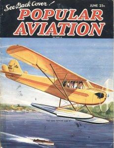 Popular Aviation JUNE/1937-Herman R. Bollin PULP STYLE COVER ART-ADVENTURE IN TH