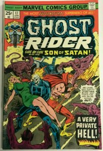 GHOST RIDER#17 FN/VF 1975 MARVEL BRONZE AGE COMICS