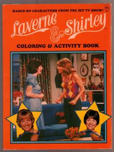 Laverne & Shirley Coloring Book #405-3 1983-Penny Marshall-Cindy Williams-TV-FN