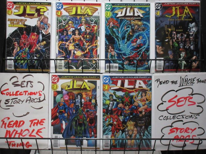 JUSTICE LEAGUES (DC,2001) #1a-1f COMPLETE!  VF-NM