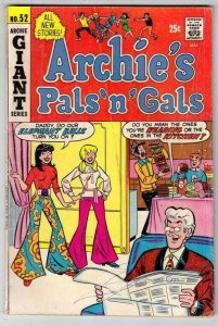 Archie's Pals 'n' Gals # 52 Strict FN Mid-Grade Cover Bell Bottom Pants, Betty