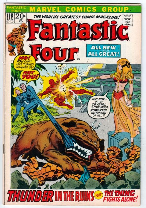 Fantastic Four #118 (Jan-72) VF High-Grade Fantastic Four, Mr. Fantastic (Ree...