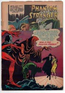 PHANTOM STRANGER 1 FR/G (1.5), 1952 DC COMICS, TOP 1/3 OF COVER MISSING,