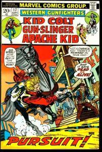 WESTERN GUNFIGHTERS #17-KID COLT/APACHE KID-GIL KANE VF
