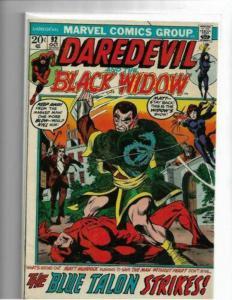 DAREDEVIL #92 - VF+ BLACK WIDOW IN TITLE BEGINS - HIGH GRADE BRONZE AGE