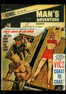 Man's Adventure Pulp Magazine November 1962- Nazi torture READING COPY