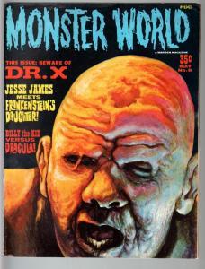 MONSTER WORLD #8-1966-FRANKENSTEIN-JESSE JAMES-DRACULA VS BILLY THE KID-HO FN