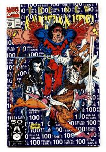 The New Mutants #100 comic book 1991-rob Liefeld-1st X-force-final Issue