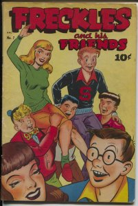 Freckles and His Friends #7 1948-Standard-spicy headlights cover & panels-VG-