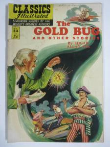 CLASSIC ILLUSTRATED #84 (G) THE GOLD BUG (1ST Edition, HRO=85) June 1951