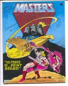 Masters of the Universe #7  1982-Matel-promo comic-The Power Of Point Dread...