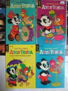 Walter Lantz Presents Andy Panda (Gold Key 1973) #1-4 FVF+ Cartoon Funnies